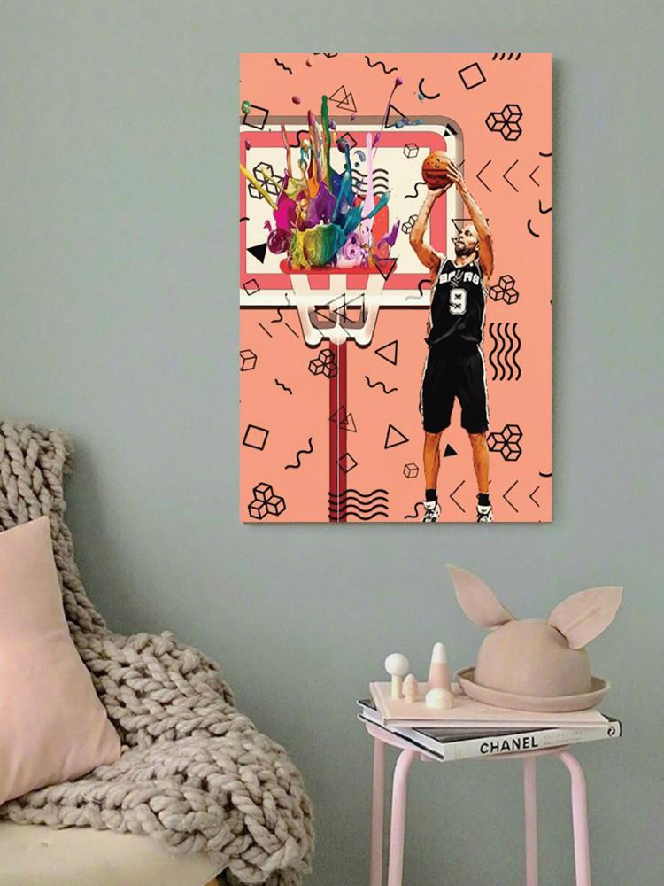 لوحة عشاق كرة السلة خشب ام دي اف مقاس 40x60 سنتيمتر
