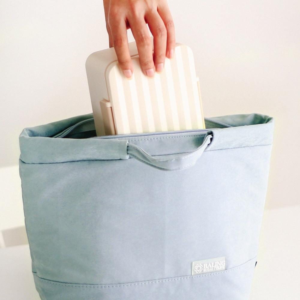 حقيبة لانش بوكس طريقة تحضير غداء صحي صندوق غداء حقائب مخمل سماوي