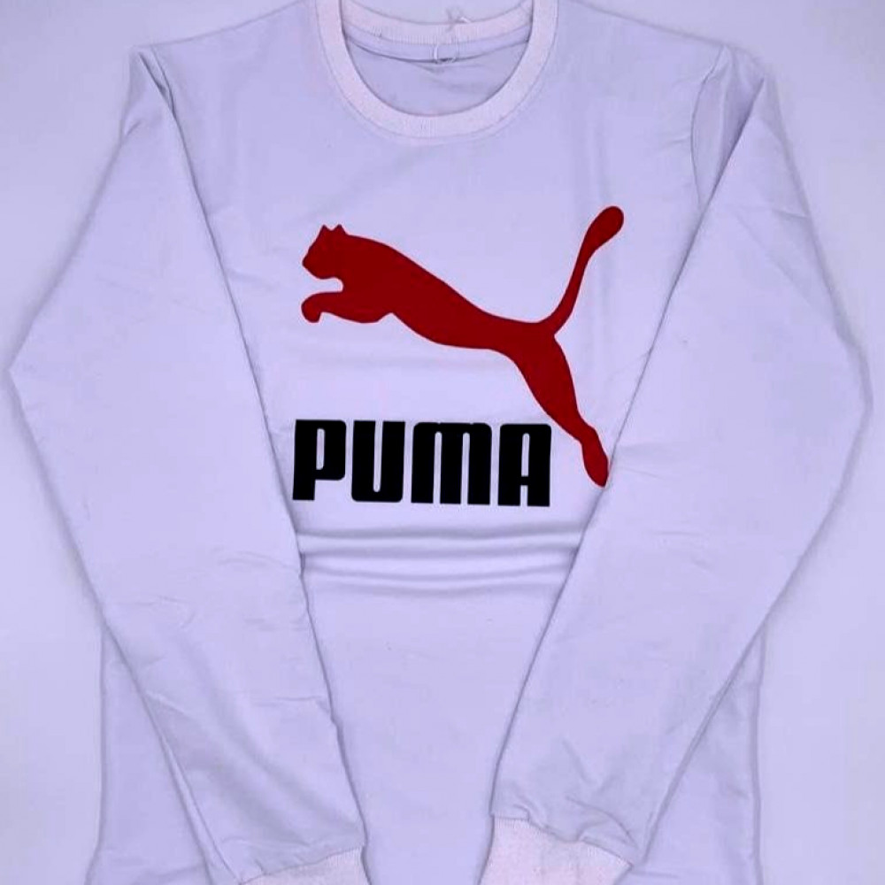 بلوفر PUMA ابيض صناعة تركية