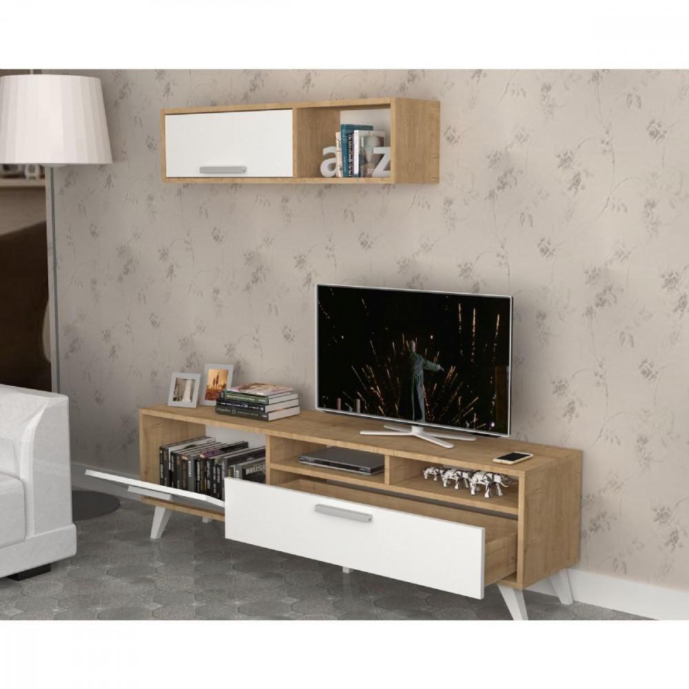 مواسم طاولة تلفاز مكونة من قطعتين بتصميم جذاب يتناسب مع الموضة