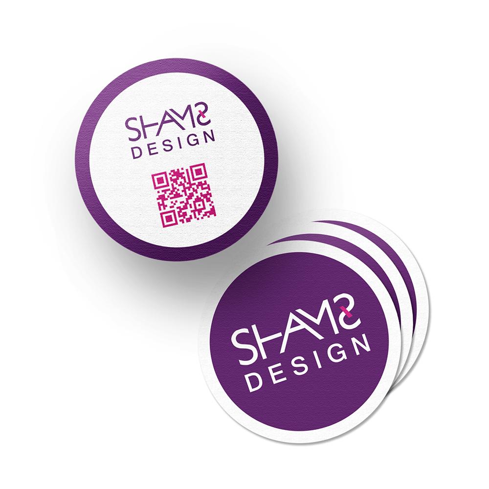 تصميم بطاقة دائرية