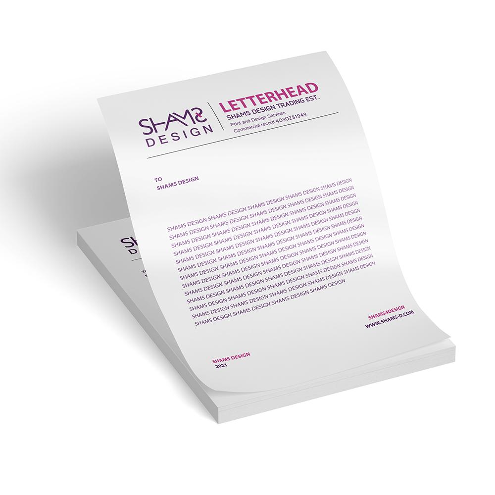 تصميم ورق مراسلات ورق خطابات رسمي