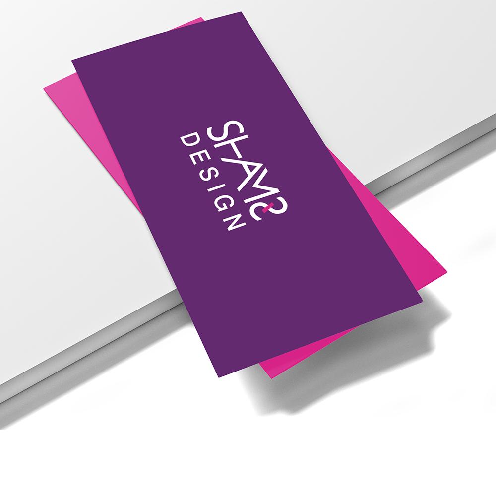 تصميم وطباعه بطاقات مستطيله كبيره