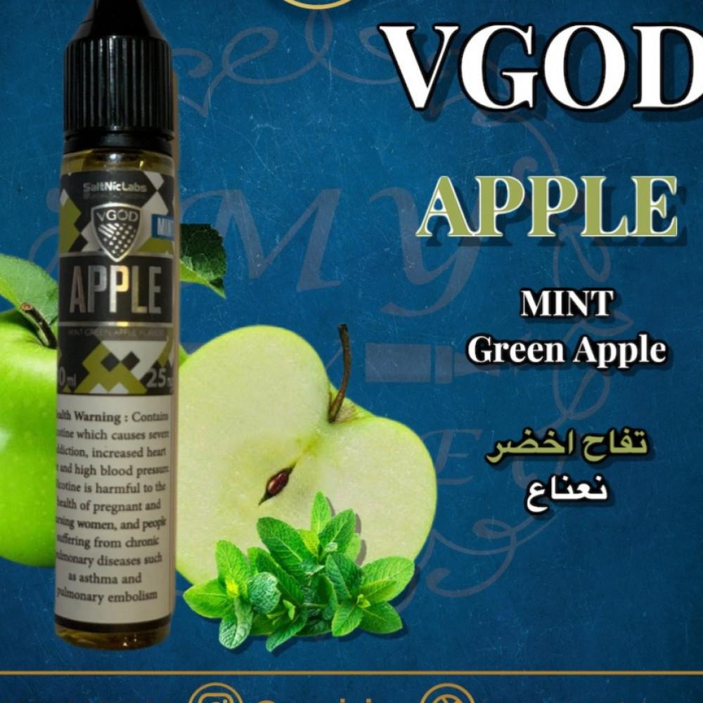 نكهة فيقود منت تفاخ اخضر سولت نيكوتين VGOD APPLE BOMB MINT Salt
