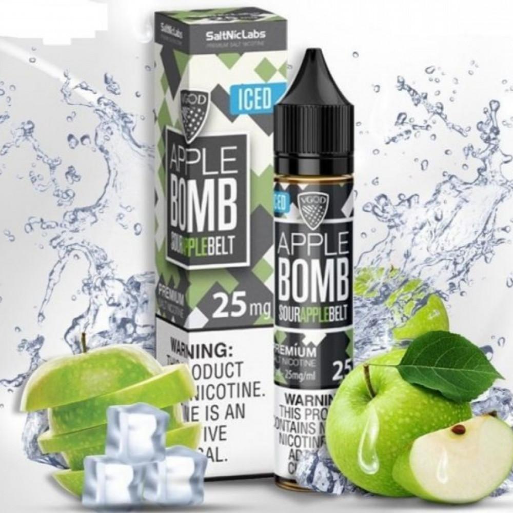 نكهة في قود تفاح اخضر  ايس - سولت - VGOD APPLE BOMB ICED Salt