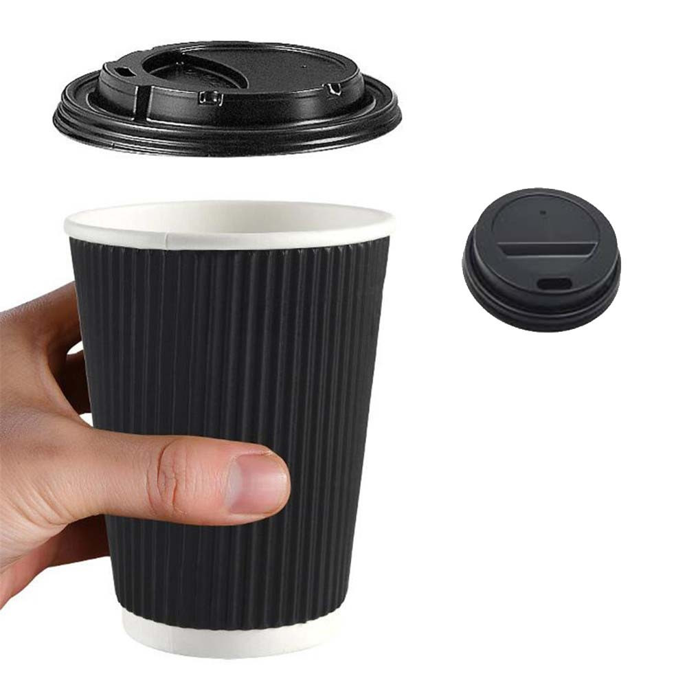 اكواب قهوة دبل كرتون 8 اونص اسود