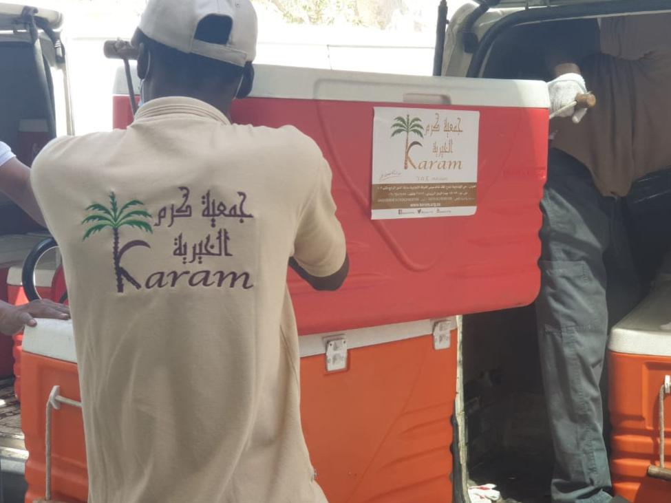 توزيع السلال الغذائية على المستحقين