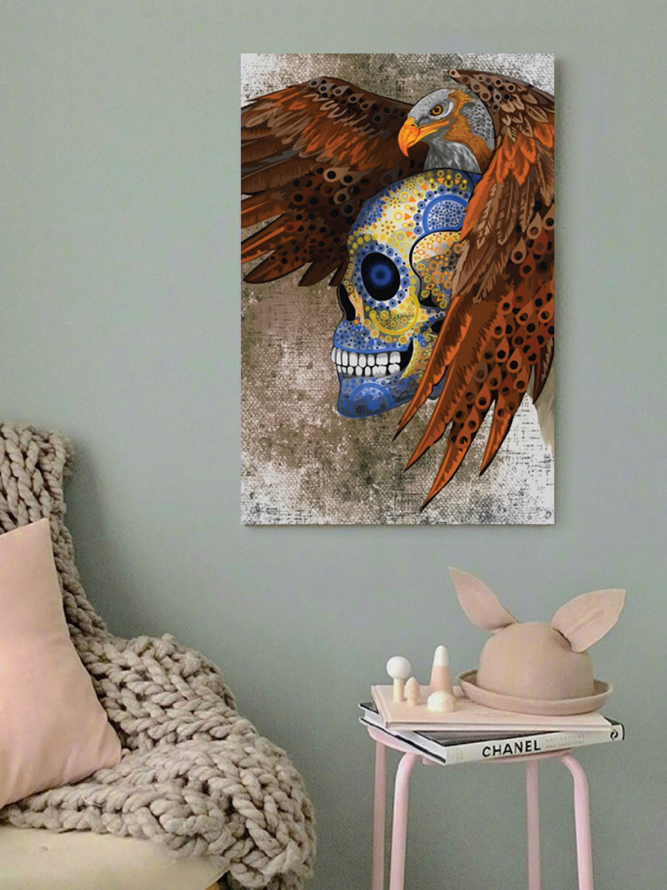 لوحة الجمجمة خشب ام دي اف مقاس 40x60 سنتيمتر