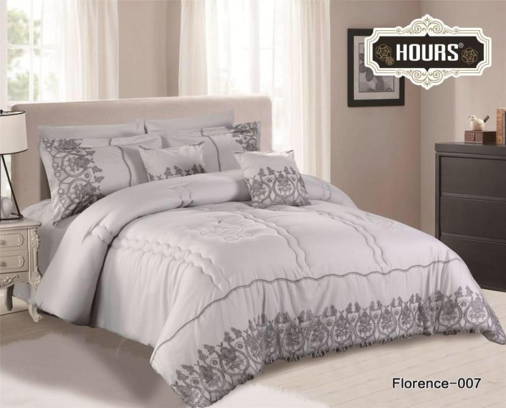 لحاف سريري مزدوج من الوان الرمادي يعطيك كامل احساس الراحة