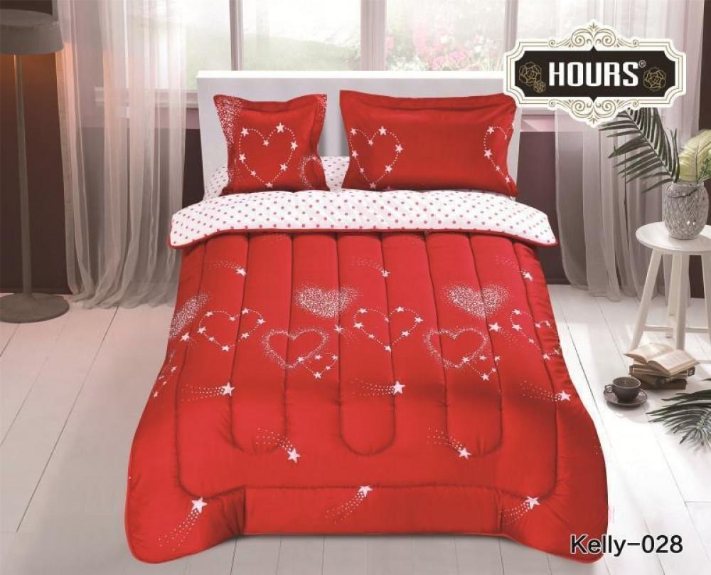 مفرش سرير أطفال رسمة قلوب