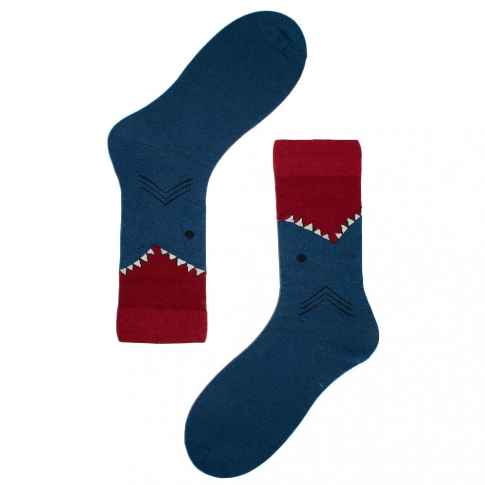 جوارب ملونة -جورب الخنافس باللون الأزرق والأحمر