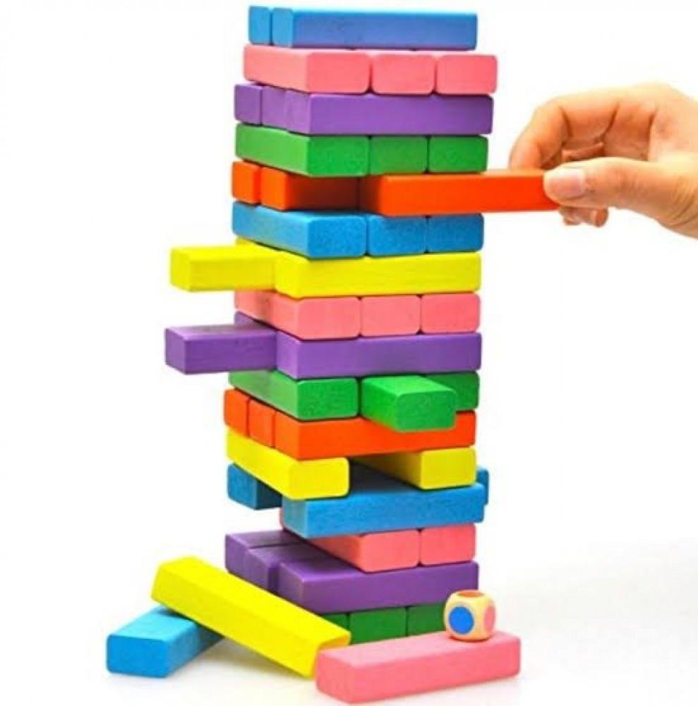 جينجا ملون الزان لعبة جينجا جنجا بازل خشب ملون العاب الاطفال