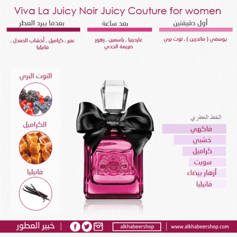Juicy Couture Viva La Juicy Noir Eau de Parfum 100ml خبير العطور