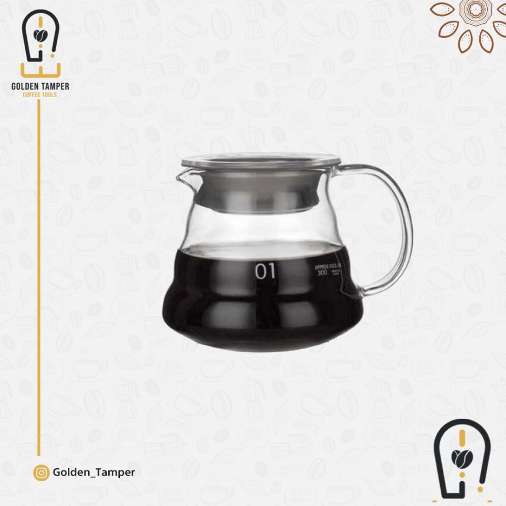 سيرفر تقطير و تقديم قهوة زجاجي مقاس 360 مل