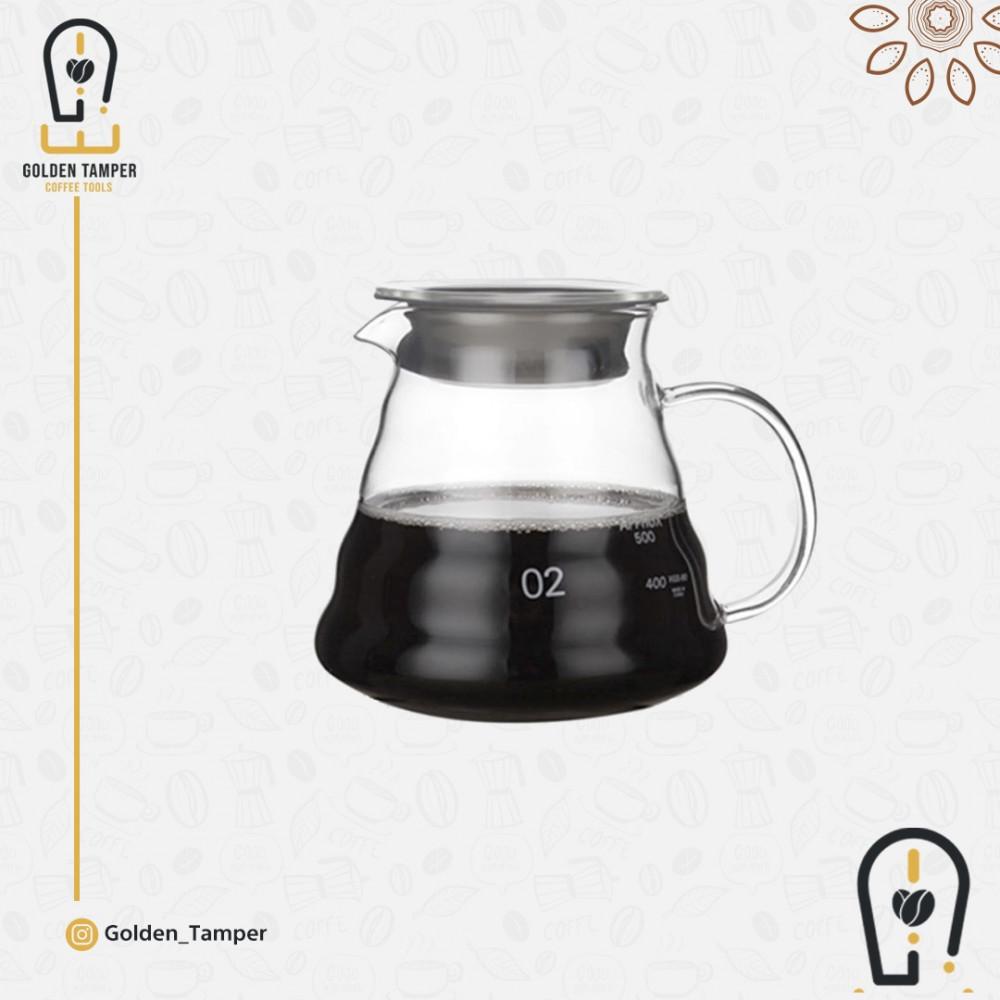 سيرفر تقطير و تقديم قهوة زجاجي مقاس 600ml
