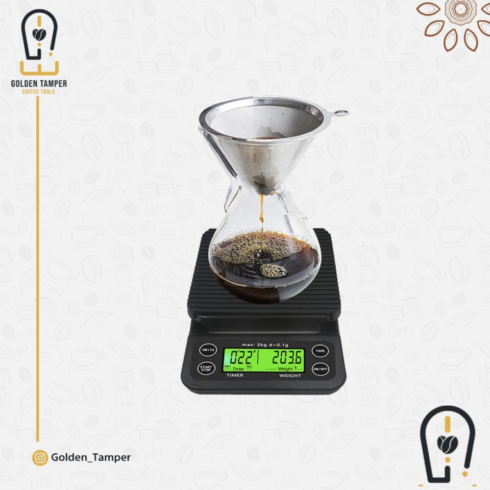 ميزان رقمي مع مؤقت قهوة
