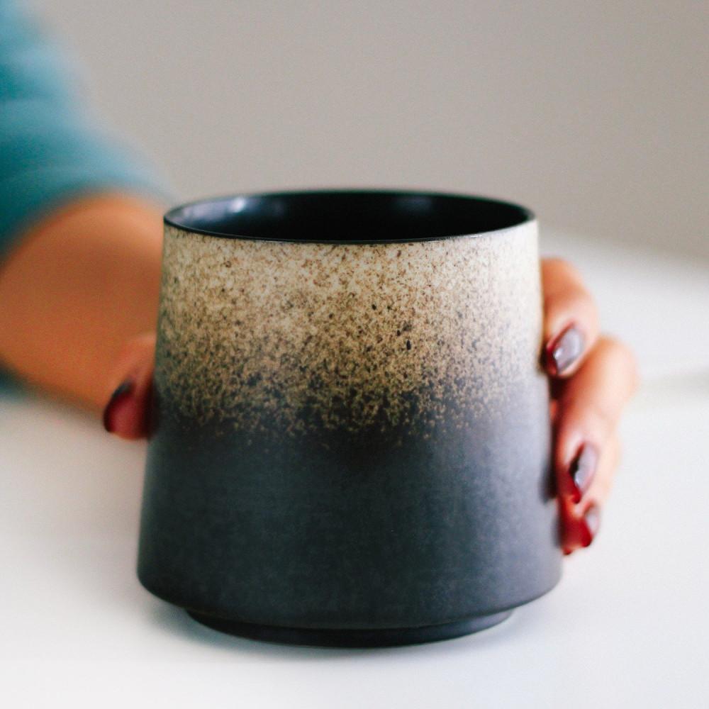 أكواب قهوة كوب أسود بيج فوجي أدوات القهوة المختصة قهوة مقطرة كوب متجر