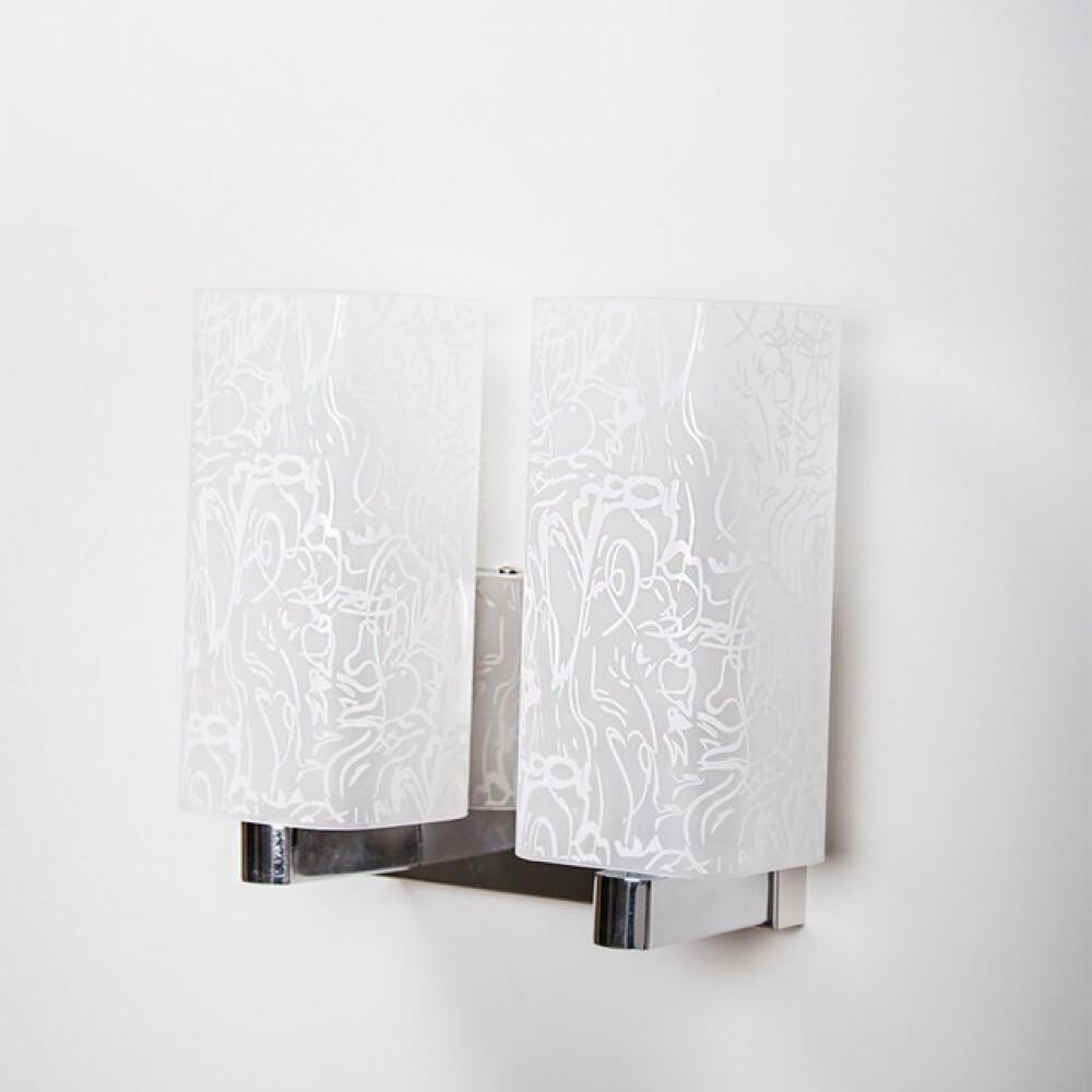 لمبة جدارية داخلية مجوز بزجاج مزخرف - فانوس