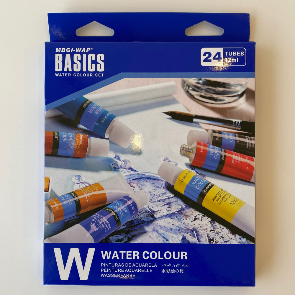 مجموعة الوان مائية 24 لون