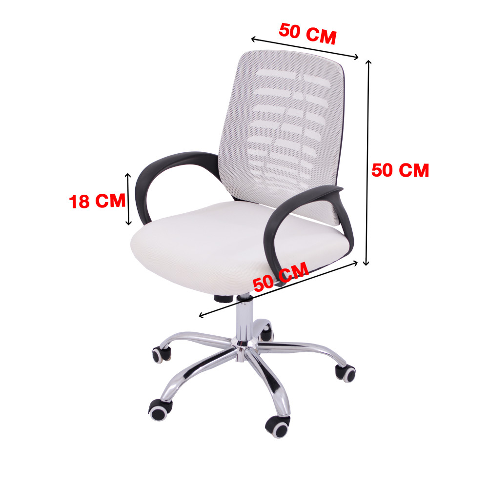 كرسي مكتبي ظهر شبك  ابيض YA-67WHITE