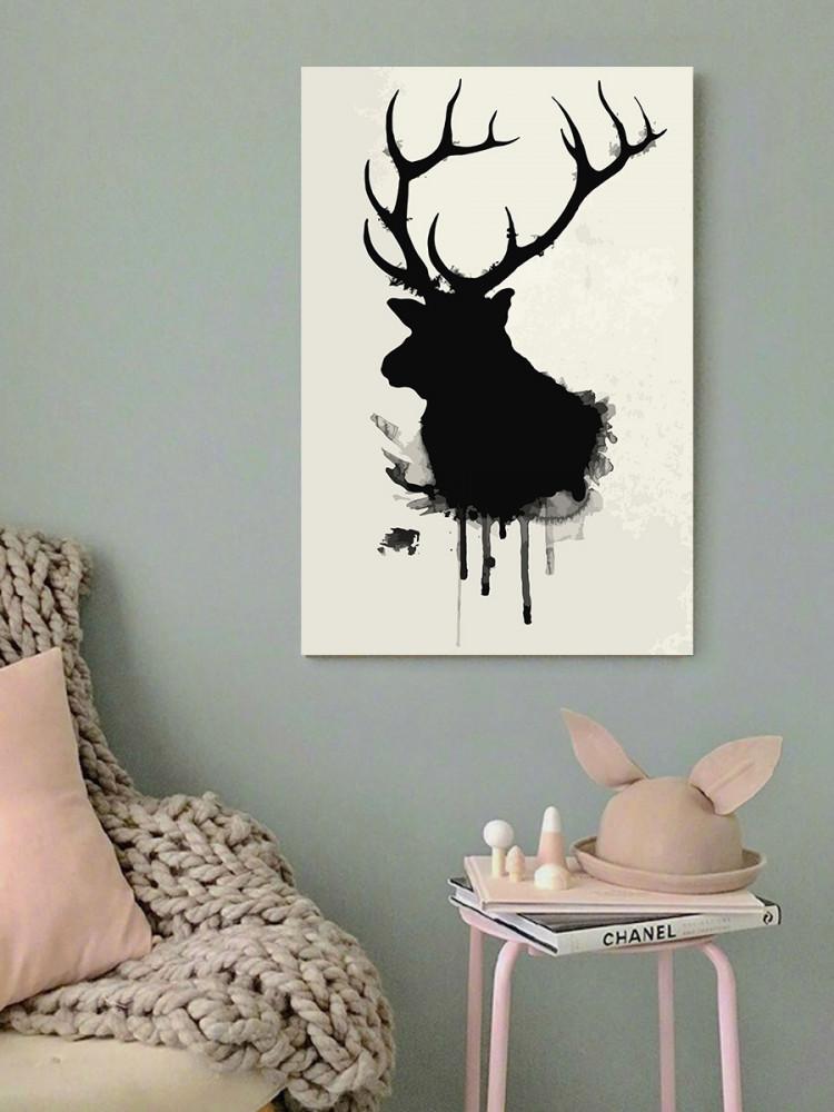 لوحة حيوان الأيل غزال خشب ام دي اف مقاس 40x60 سنتيمتر
