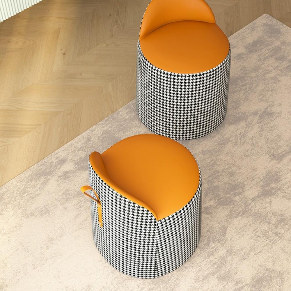 كرسي-مريح-كاروهات-جلد-اسفنج-عالي-الكثافة