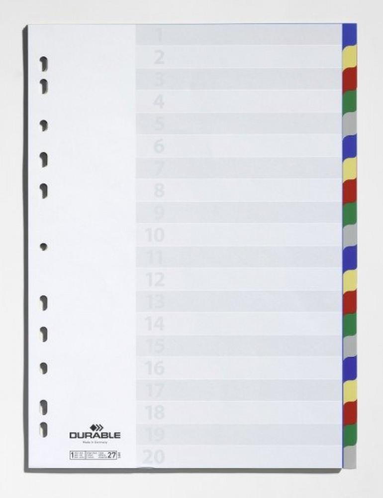 فواصل ملونة سادة 20 ورقة 5 الوان الماني مكتبة مرزا