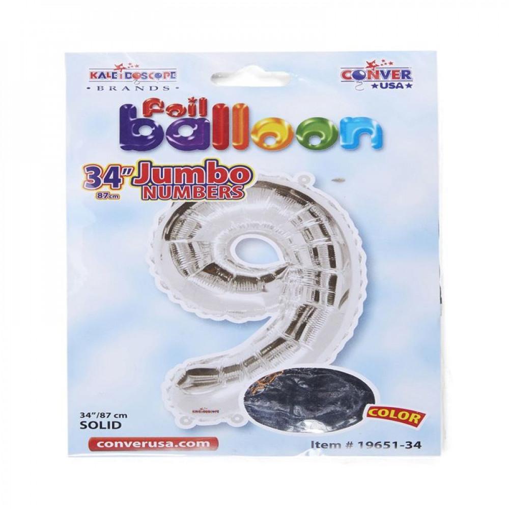 بالون فضي, بالون 9, Silver Balloon, بلونات أرقام