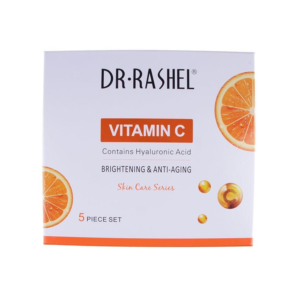 د راشيل مجموعة العناية بالبشرة 5في1 بخلاصة فيتامين سي للتبييض و مكافح