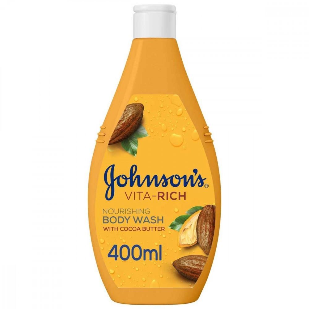 صابون سائل للاستحمام فيتا رتش مع خلاصة زبدة الكاكاو من جونسون - 400 مل