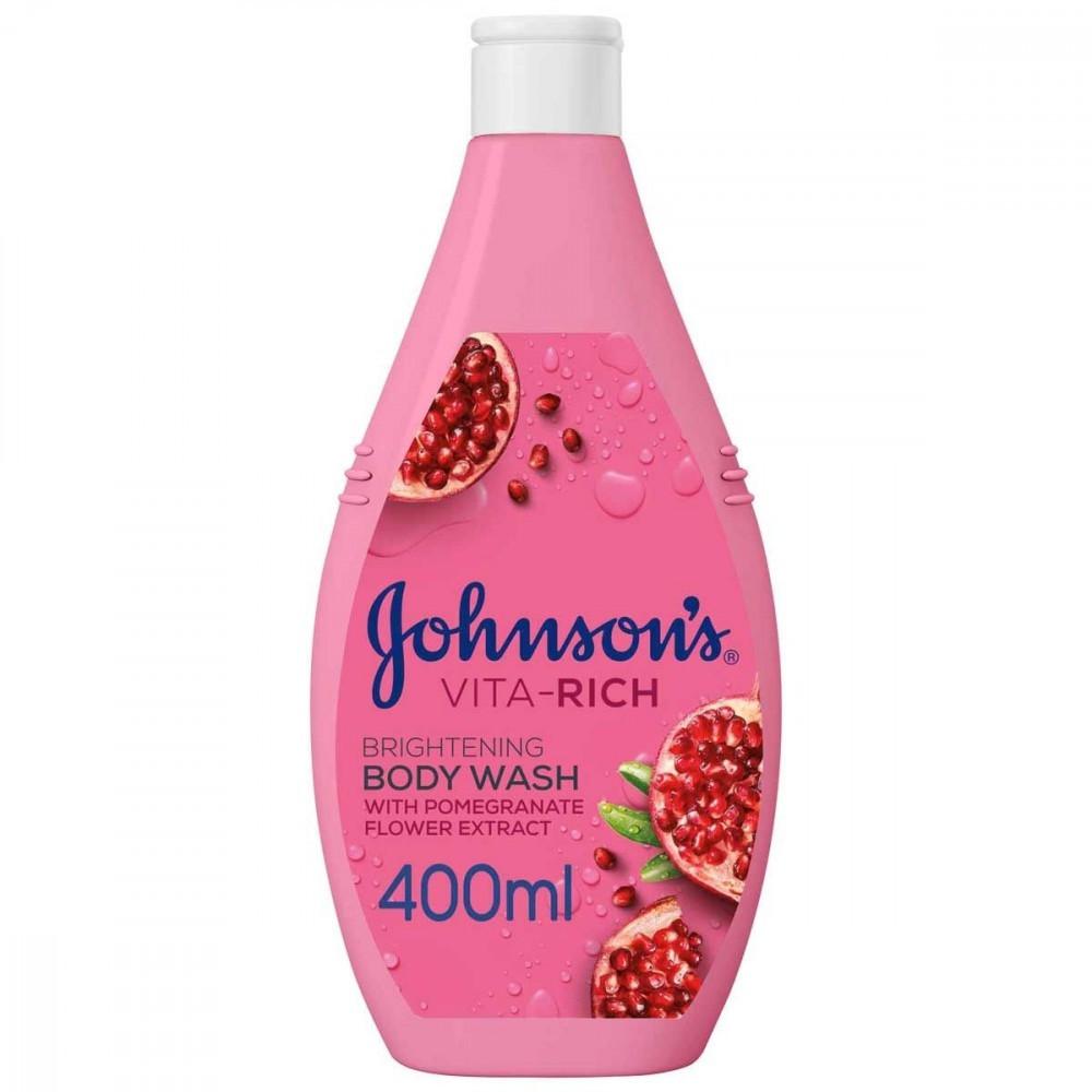 صابون سائل للاستحمام فيتا رتش مع خلاصة زهر الرمان من جونسون - 400 مل