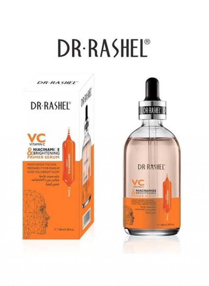 برايمر سيروم بخلاصه فيتامين سي والنيكوتيناميد لتفتيح البشرة من د راشيل