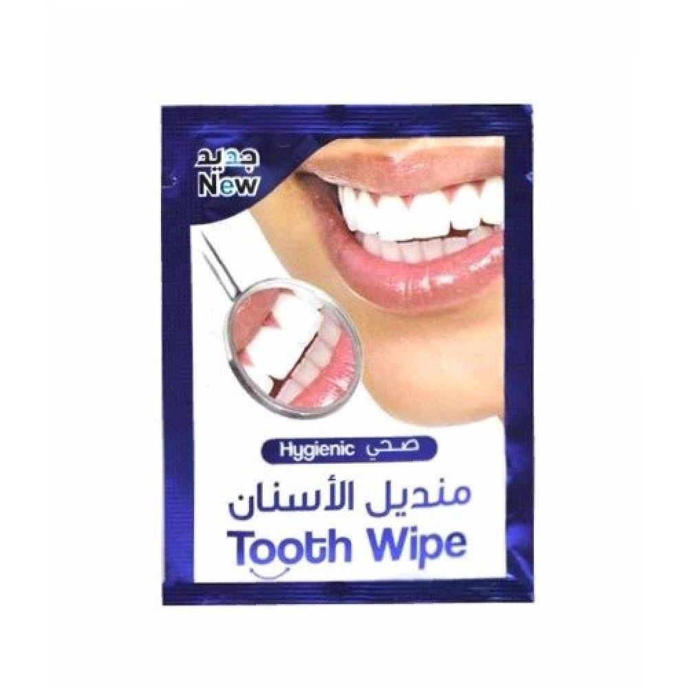 مناديل ويل زاد لتنظيف الاسنان بنكهة النعناع الطبيعية - 12 منديل