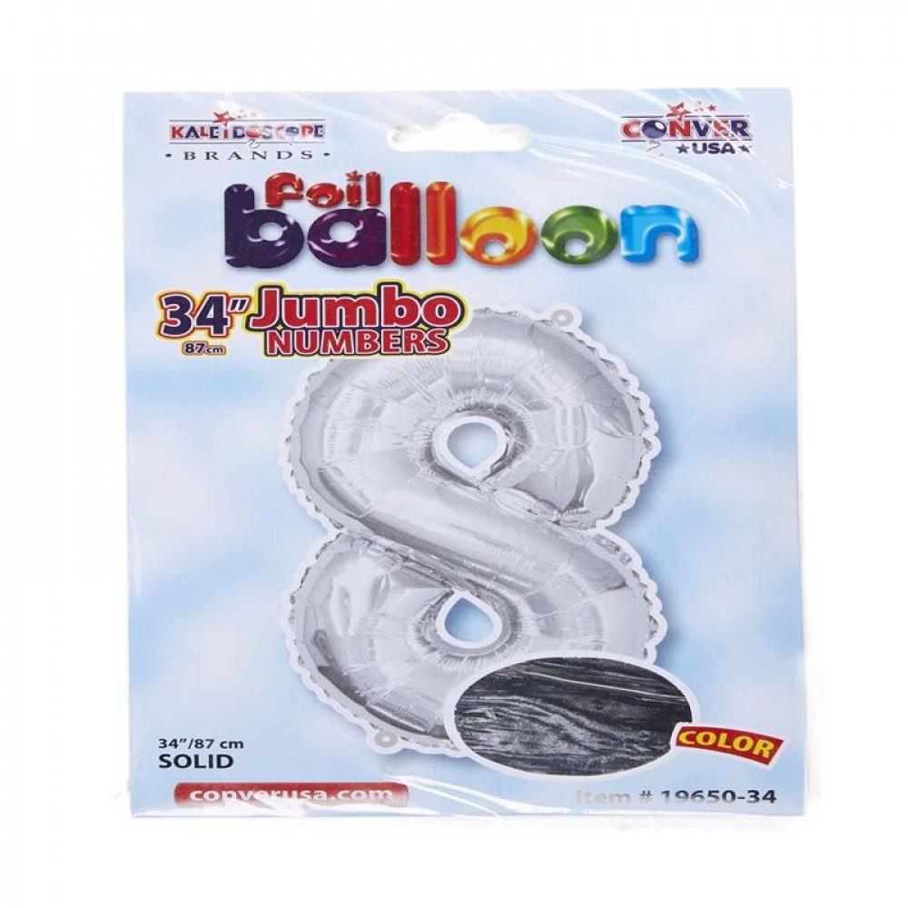 بالون فضي, بالون 8, Silver Balloon, بلونات أرقام