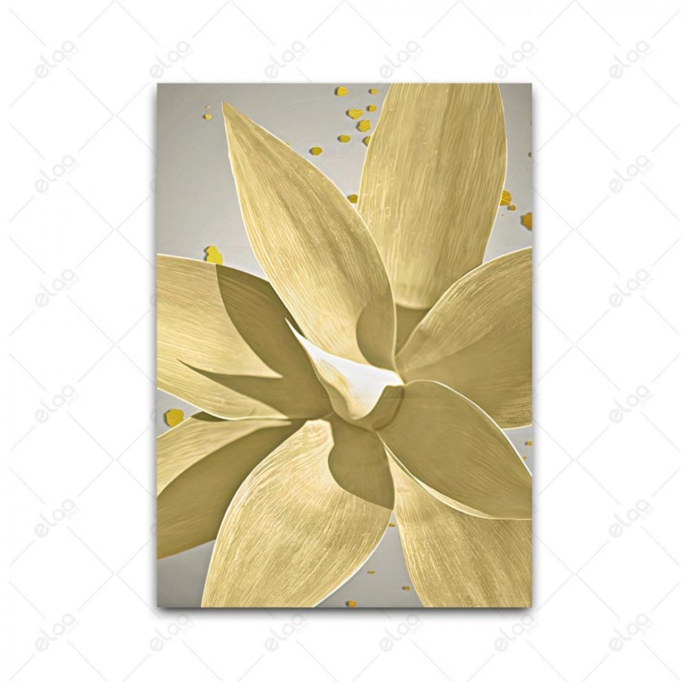 لوحات جدارية  ورق شجر ذهبي باشكال مختلفة