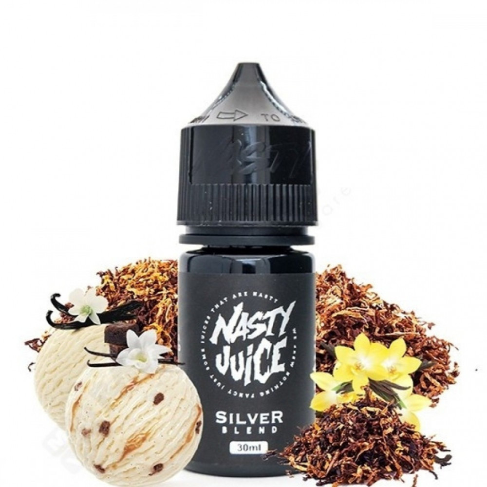 نكهة ناستي سيلفر بلند سولت نيكوتين - NASTY SILVER BLEND TOBACCO - Salt