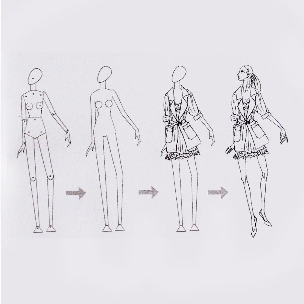 مانيكان للرسم طريقة رسم المانيكان كيف يتم تصميم الأزياء تصميم الأزياء