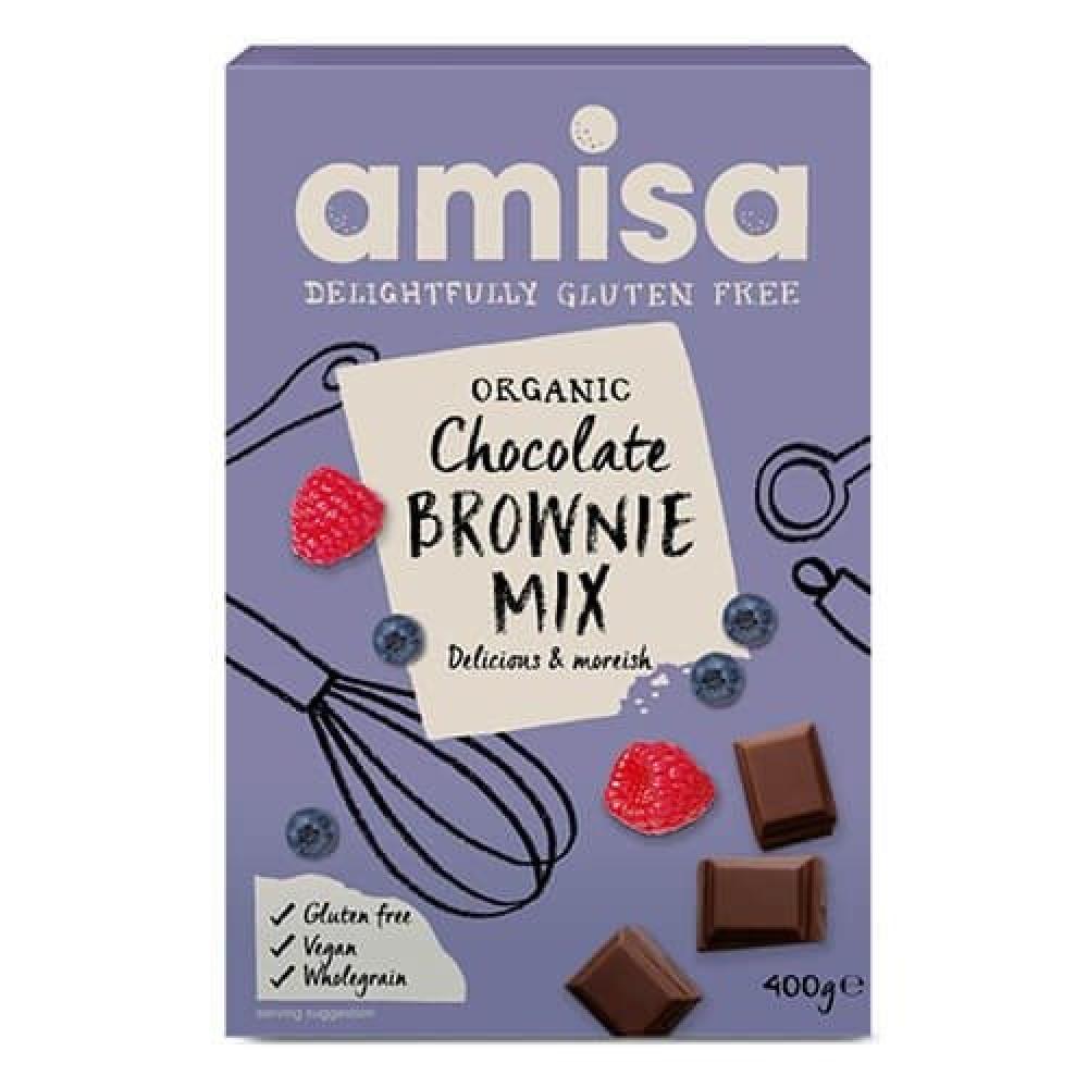 خليط براوني الشوكلاته العضوي خالي من الجلوتين 400 جرام