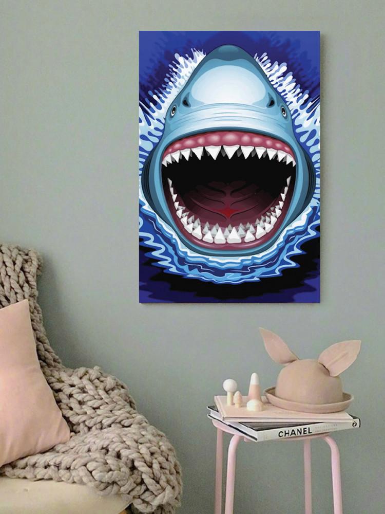 لوحة سمك القرش خشب ام دي اف مقاس 40x60 سنتيمتر