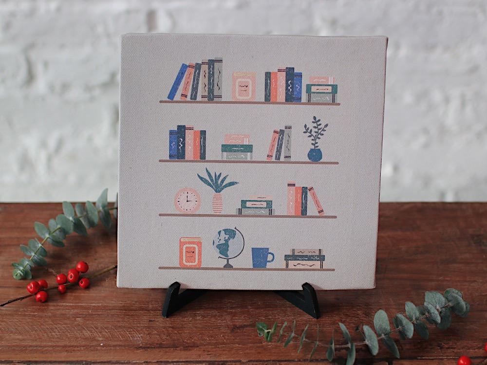 لوحة كانفس مكتبة هدية لمحبين الكتب