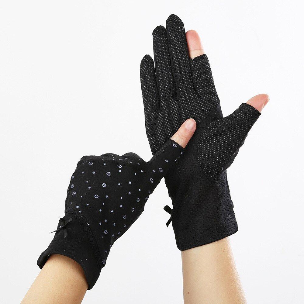 قفازات قيادة مانعة للانزلاق لحماية اليدين من الشمس
