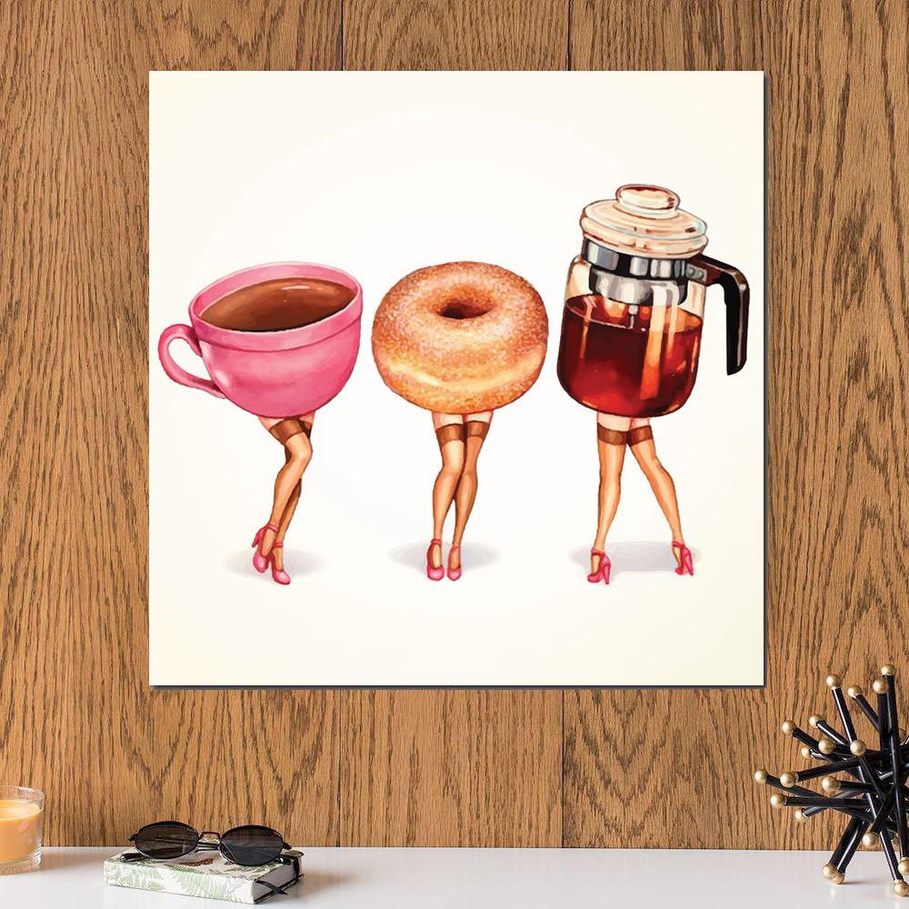 لوحة الشاي و المعجنات خشب ام دي اف مقاس 30x30 سنتيمتر
