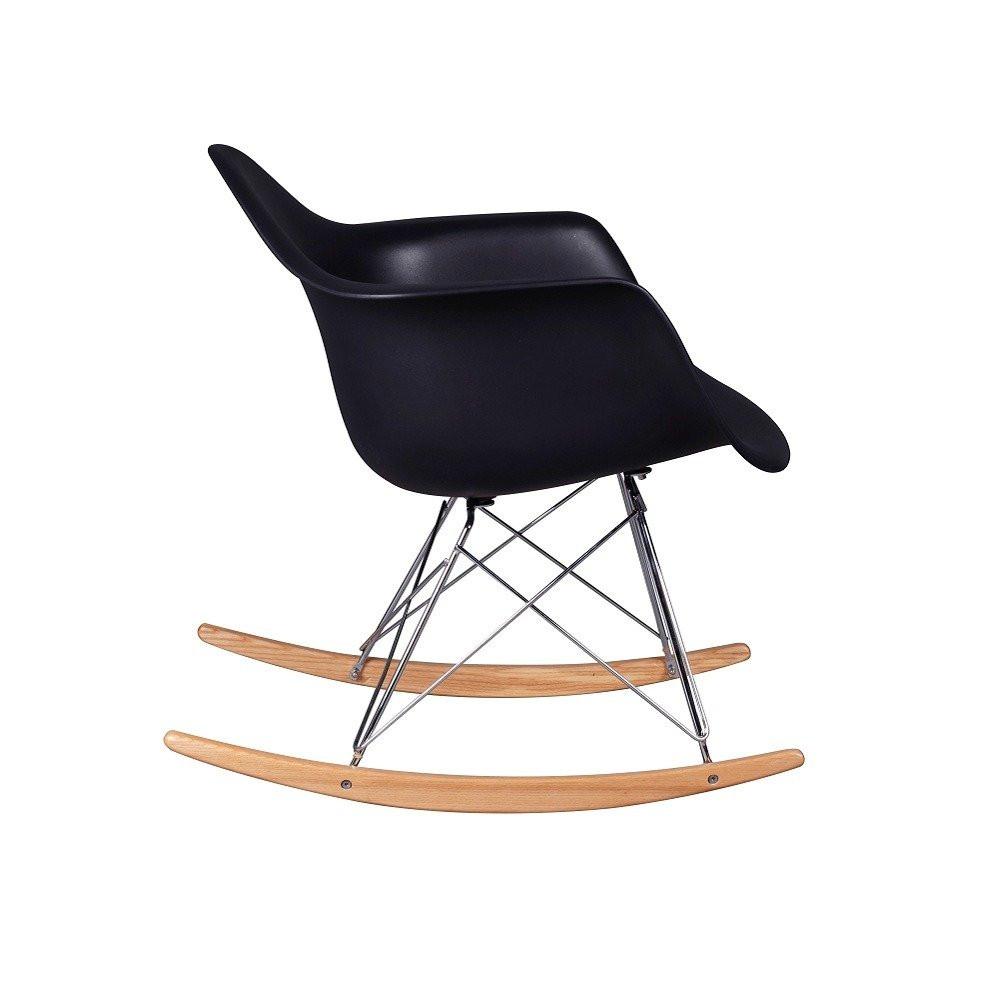 الزاوية الجانبية من كرسي جميل في متجر مواسم طقم كراسي نيت هوم أسود
