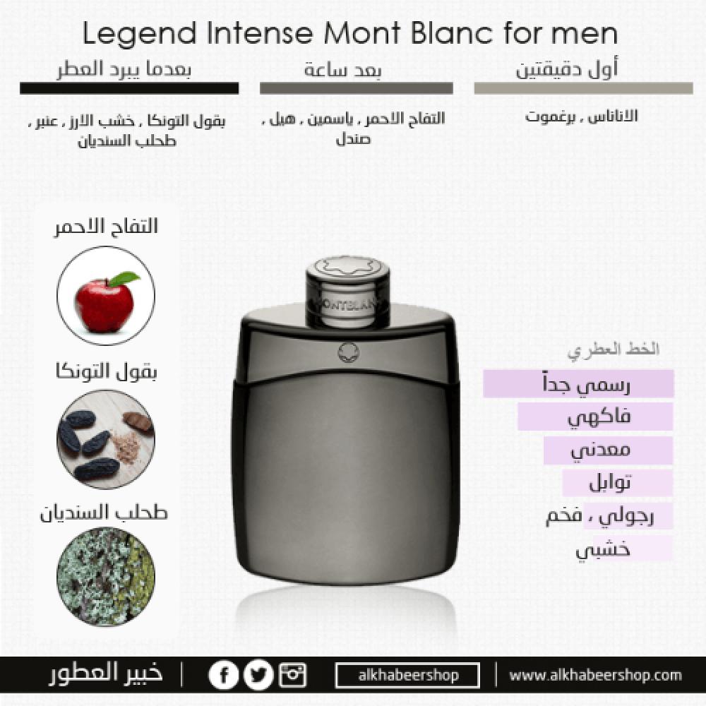 Mont Blanc Legend Intense Toilette 100ml 3 Gift Set متجر خبير العطور