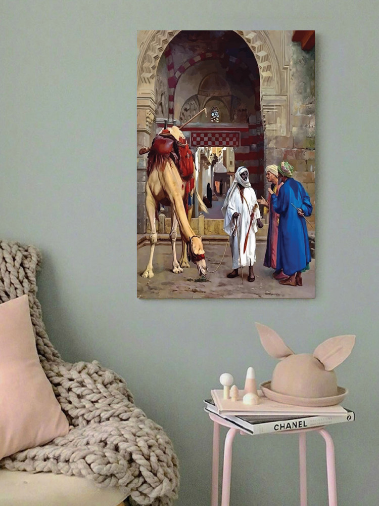 لوحة تراث عربي زمن قديم جمل خشب ام دي اف مقاس 40x60 سنتيمتر