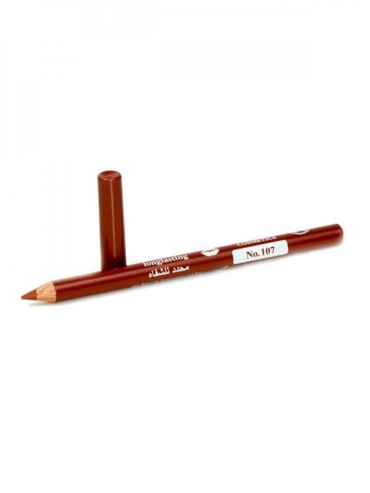 قلم تحديد شفايف طويل الامد من جيسيكا 107 بني