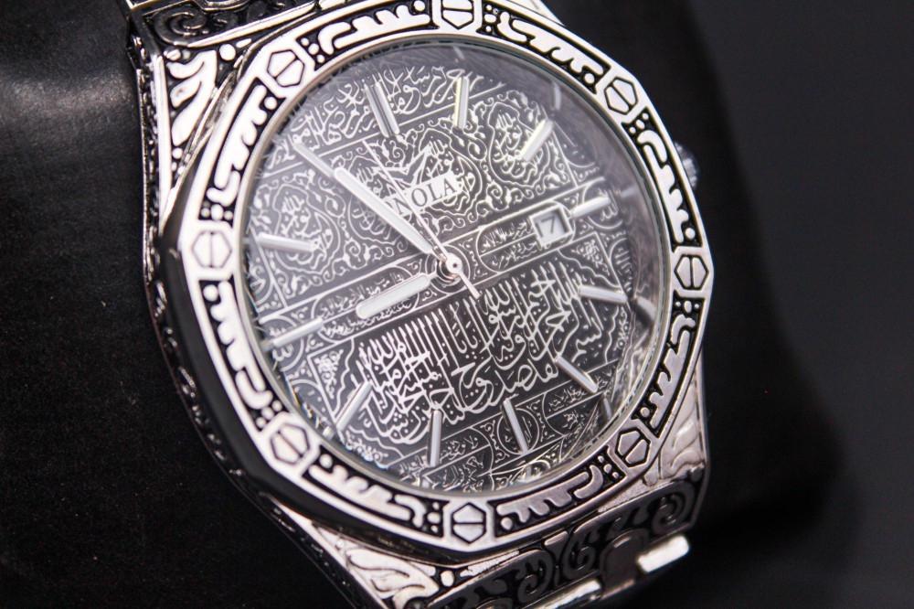 ساعة يد إسلامية - نقش اسلامي -كسوة الكعبة
