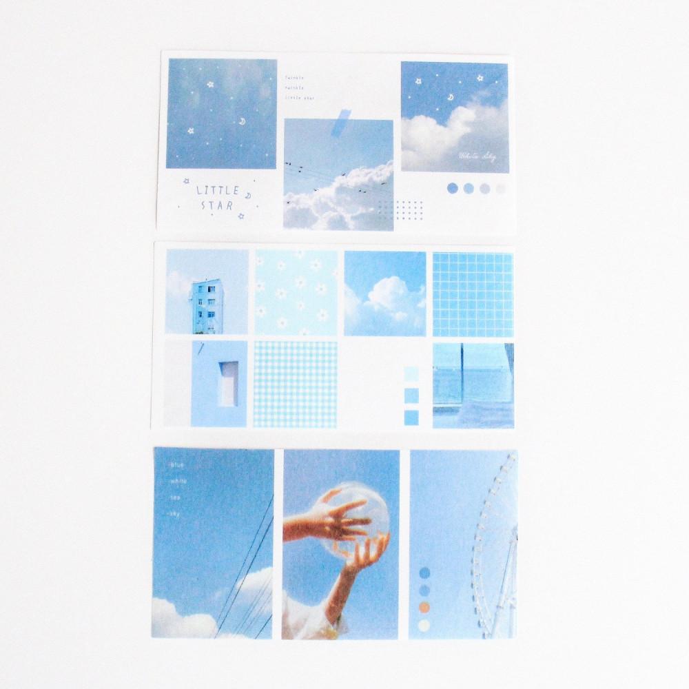 ستيكر لتزيين أجندة لابتوب مدرسة جامعة كولاج ملف صغير ستيكرات سماء بحر