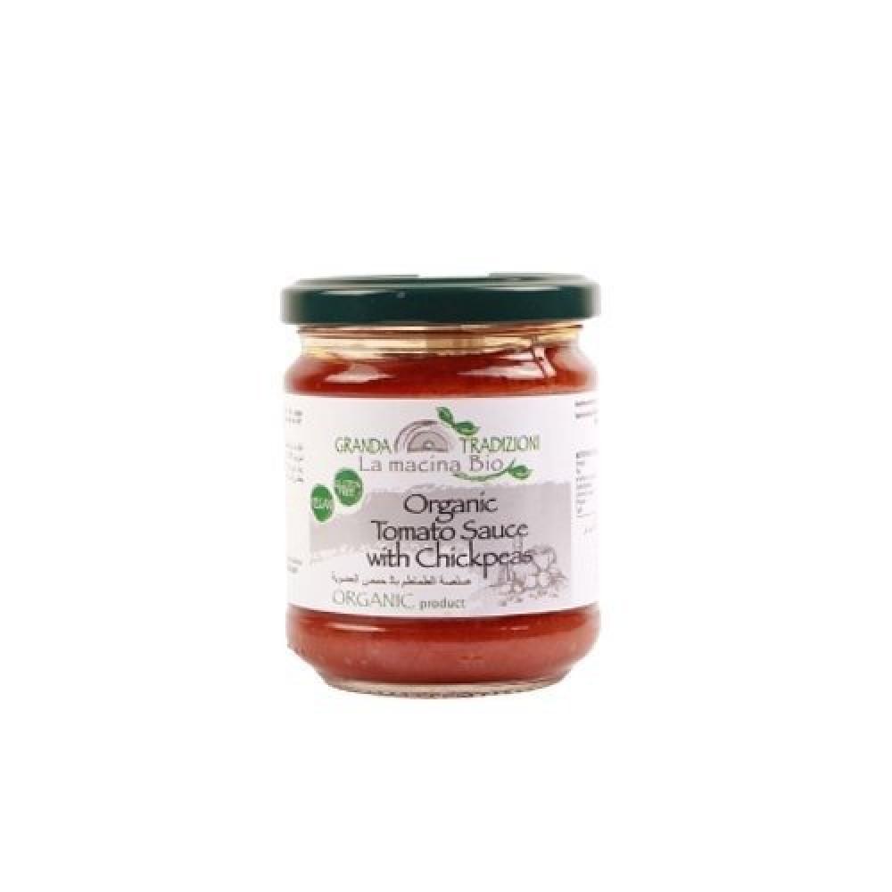صلصة الطماطم مع الحمص عضوي