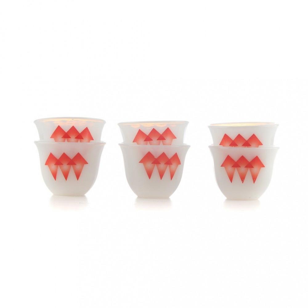 فنجان الكيف اركوبال احمر وسط دايموند